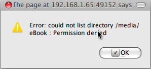 Reading External Drive with Media Tomb (Error could not list
