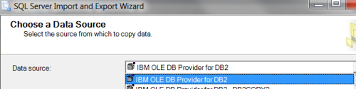Select the DB2 Driver that you need to connect to the database